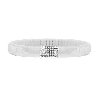Roberto Demeglio White Ceramic & 18K White Gold Diamond Pura Bracelet