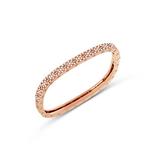 Roberto Coin 18K Rose Gold Pois Moi Diamond Bangle Bracelet