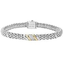 Lagos_Sterling_Silver_&_18K_Diamonds_&_Caviar_Wave_Bracelet