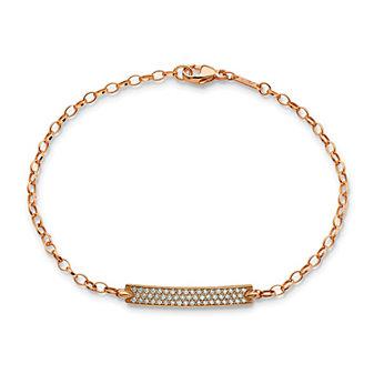 Monica Rich Kosann 18K Rose Gold Carpe Diem Diamond Poesy Bracelet