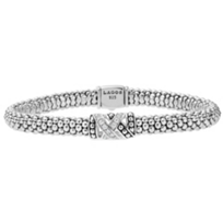 Lagos_Embrace_Sterling_Silver_Diamond_Caviar_Bracelet,_0.18cttw