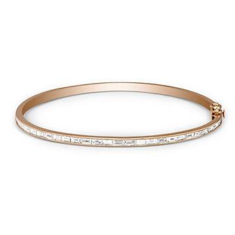 Sethi Couture 18K Rose Gold Baguette Diamond Bangle Bracelet