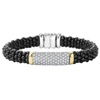 Lagos_Sterling_Silver_&_18K_Yellow_Gold_Diamond_Black_Caviar_Bracelet