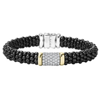 Lagos_18K_Yellow_Gold_and_Sterling_Silver_.93_Carat_Diamond_Black_Caviar_Bracelet