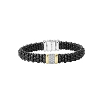 Lagos_18K_Yellow_Gold_and_Sterling_Silver_.39_Carat_Diamond_Black_Caviar_Bracelet