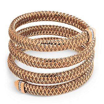 Roberto Coin 18K Rose Gold Three Row Primavera Bracelet