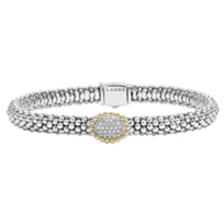 Lagos_18K_Yellow_Gold_&_Sterling_Silver_Diamonds_&_Caviar_Bracelet