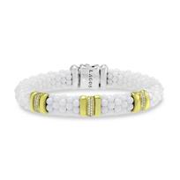 Lagos_Sterling_Silver_&_18K_White_Ceramic_Diamond_Three_Bar_Caviar_Bracelet