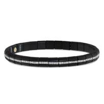 Roberto_Demeglio_18K_White_Gold_Black_Ceramic_Round_Diamond_Eternity_Stretch_Bracelet