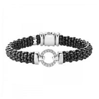 Lagos_Sterling_Silver_Round_Diamond_Black_Caviar_Beaded_Bracelet