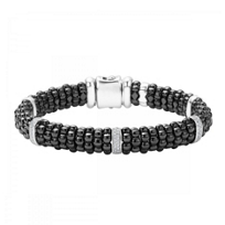 Lagos_Sterling_Silver_Round_Diamond_5_Bar_Black_Caviar_Beaded_Bracelet