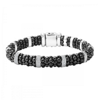 Lagos_Sterling_Silver_Round_Diamond_10_Bar_Black_Caviar_Beaded_Bracelet_