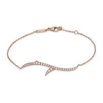 Stephen_Webster_18K_Rose_Gold_Diamond_Thorn_Stem_Bracelet,_7.5""