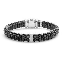 Lagos_Sterling_Silver_Round_Diamond_Bar_Black_Caviar_Beaded_Bracelet