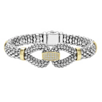 Lagos_Sterling_Silver_&_18K_Yellow_Gold_Diamond_Caviar_Bracelet