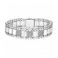 Lagos_Sterling_Silver_Caviar_Spark_3_Diamond_Pave_Link_Bracelet