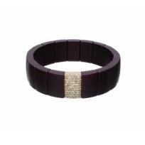 Roberto_Demeglio_18k_rose_gold_&_brown_ceramic_diamond_pave_stretch_bracelet