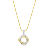 14K_Yellow_&_White_Gold_Diamond_Double_Oval_Pendant,_18""