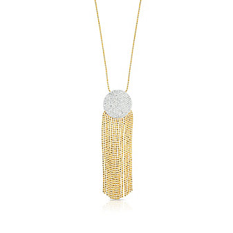 Philips House 14K Two-Tone Infinity Tassel Necklace