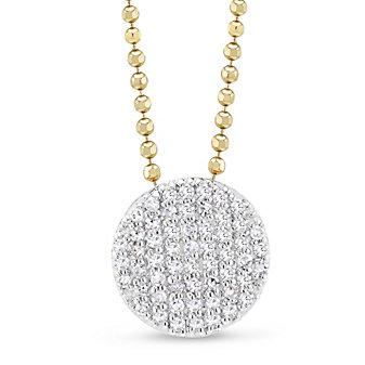 Phillips House 14K Two-Tone Affair Diamond Mini Circle Pendant