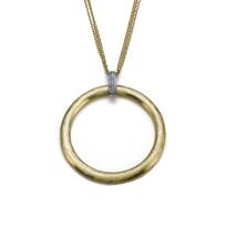 18K_Yellow_&_White_Gold_Diamond_Circle_Pendant_