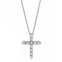 18K_White_Gold_Diamond_Cross_Pendant,_0.50cttw