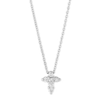 Roberto_Coin_18K_White_Gold_Diamond_Cross_Pendant,_0.11cttw