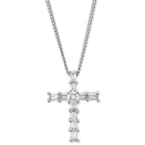 18K_White_Gold_Baguette_and_Round_Diamond_Cross_Pendant,_0.24cttw