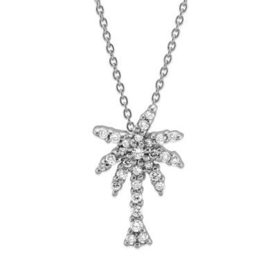 Roberto Coin 18K White Gold Diamond Palm Tree Pendant, 0.17cttw