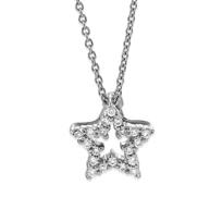 Roberto_Coin_18K_White_Gold_Diamond_Star_Pendant,_0.09cttw