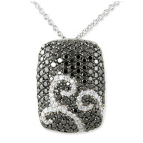 18K_White_and_Black_Diamond_Dog_Tag_Pendant,_1.70_cttw