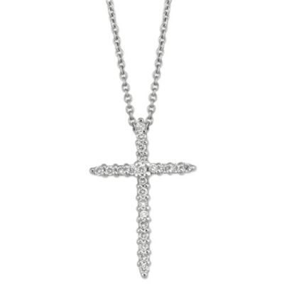 Roberto_Coin_18K_White_Gold_Diamond_Cross_Pendant,_0.10cttw