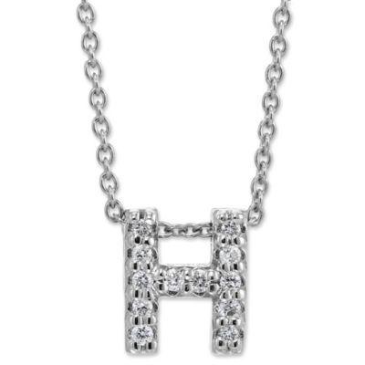 "Roberto Coin Letter ""H"" Diamond Pendant"