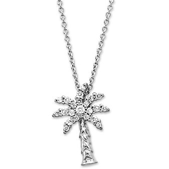 Roberto Coin 18K White Gold Diamond Palm Tree Pendant