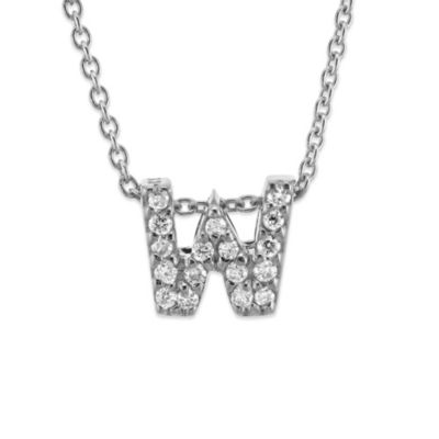 Roberto Coin 18K White Gold Diamond Love Letter Necklace