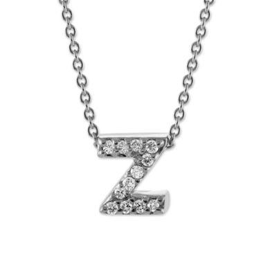Letter Z, White Gold