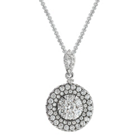 14K_White_Gold_Round_Diamond_Cluster_Pendant