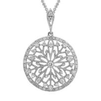 14K_White_Gold_Milgrain_Disk_Starweb_Diamond_Pendant,_0.34cttw