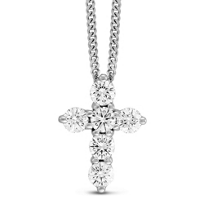 14K_White_Gold_Diamond_Cross_Pendant
