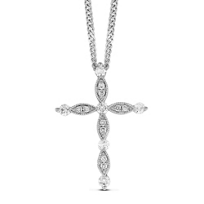 14K_White_Gold_Diamond_Cross_Pendant,_0.16cttw
