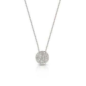 Phillips House 14K White Gold Affair Diamond Mini Circle Pendant