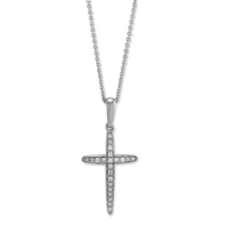 14K_White_Gold_Diamond_Cross_Pendant,_0.09cttw