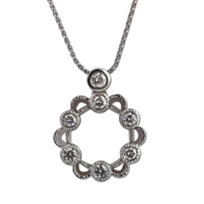 14K_White_Gold_Diamond_Milgrain_Open_Flower_Pendant