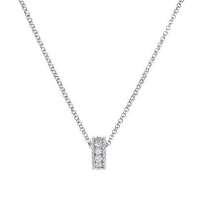 Roberto Coin 18K White Gold Diamond Symphony Circle Pendant