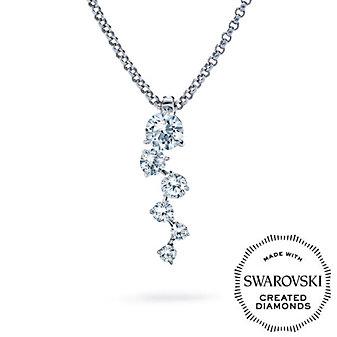 Diama 18K White Gold Signature Swarovski Created Diamond Necklace, Small