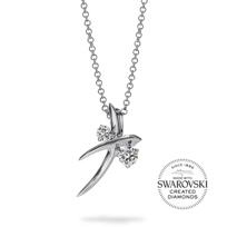 """diama_18k_white_gold_swarovski_created_diamond_encounter_pendant,_18"""""""