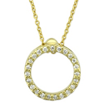 Roberto_Coin_18K_Yellow_Gold_Diamond_Circle_of_Life_Pendant,_0.10cttw