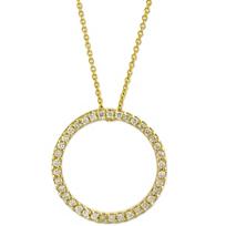 Roberto_Coin_18K_Yellow_Gold_Diamond_Circle_of_Life_Pendant,_0.26cttw