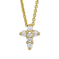 Roberto_Coin_18K_Yellow_Gold_Diamond_Cross_Pendant,_0.11cttw
