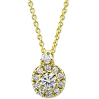 Roberto_Coin_18K_Yellow_Gold_Diamond_Halo_Pendant,_0.26cttw